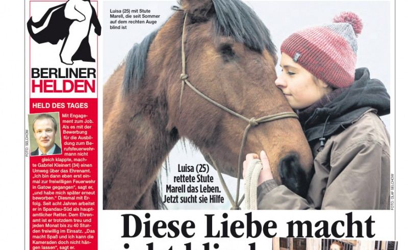 Luisa Zielke and her horse in a newspaper