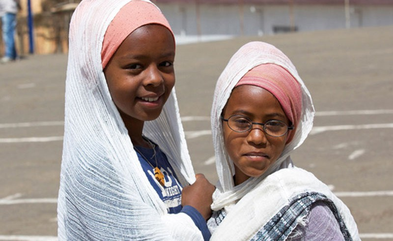 Two girls from Eritrea